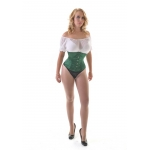 Ava Green Satin W/cincher Corset
